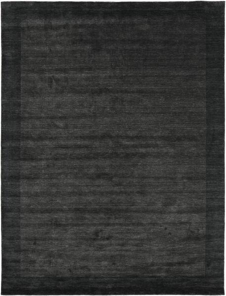 Handloom Frame - Schwarz/Dunkelgrau Teppich  200X300 Moderner Dunkelgrau/Dunkelgrün (Wolle, Indien)