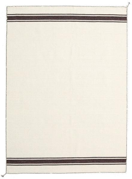 Ernst - Naturweiß/Braun Teppich  170X240 Echter Moderner Handgewebter Beige (Wolle, Indien)
