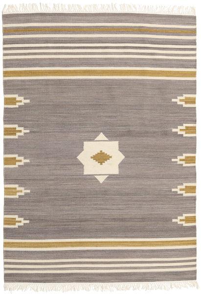 Tribal - Grau Teppich  160X230 Echter Moderner Handgewebter Hellgrau/Beige (Wolle, Indien)