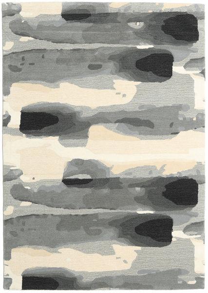 Ink - Grau Teppich  160X230 Moderner Hellgrau/Beige (Wolle, Indien)