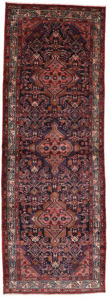 Asadabad Teppich  112X320 Echter Orientalischer Handgeknüpfter Läufer Dunkelrot/Dunkelbraun (Wolle, Persien/Iran)