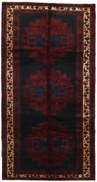 Saveh Teppich  152X288 Echter Orientalischer Handgeknüpfter Läufer Dunkelrot (Wolle, Persien/Iran)