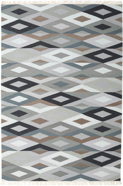 Zimba - Grau Teppich  200X300 Echter Moderner Handgewebter Hellgrau/Weiß/Creme (Wolle, Indien)