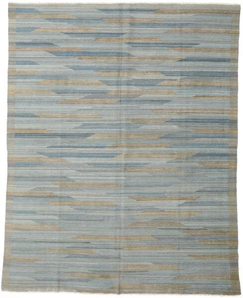 Kelim Modern Teppich  233X295 Echter Moderner Handgewebter Hellgrau/Dunkelgrau (Wolle, Afghanistan)