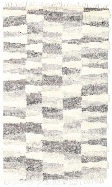 Barchi/Moroccan Berber - Indisch Teppich  144X243 Echter Moderner Handgeknüpfter Hellgrau/Beige (Wolle, Indien)