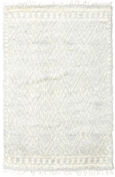 Barchi/Moroccan Berber - Indisch Teppich  156X241 Echter Moderner Handgeknüpfter Beige/Weiß/Creme (Wolle, Indien)