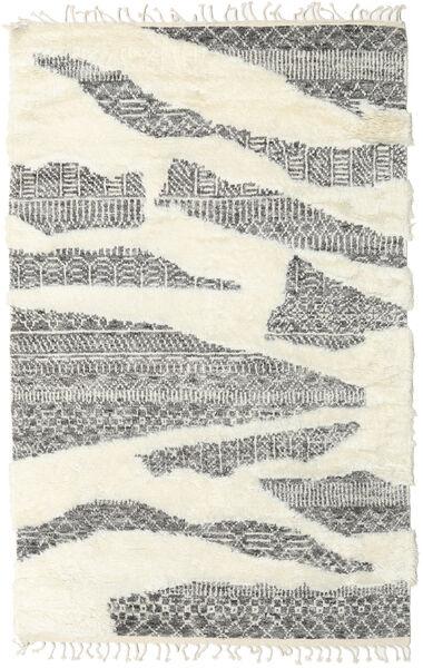 Barchi/Moroccan Berber - Indisch Teppich  153X239 Echter Moderner Handgeknüpfter Beige/Dunkelgrau (Wolle, Indien)
