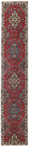 Täbriz Patina Teppich  80X430 Echter Orientalischer Handgeknüpfter Läufer Dunkelrot/Dunkelbraun (Wolle, Persien/Iran)