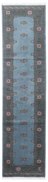 Pakistan Buchara 2Ply Teppich  78X304 Echter Orientalischer Handgeknüpfter Läufer Blau/Dunkelblau/Dunkelgrau (Wolle, Pakistan)