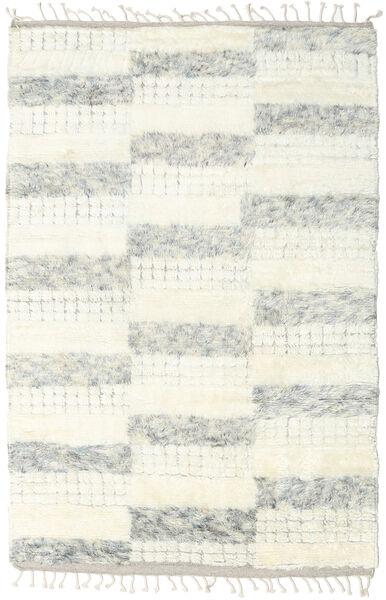 Barchi/Moroccan Berber - Indisch Teppich  149X231 Echter Moderner Handgeknüpfter Beige/Weiß/Creme (Wolle, Indien)