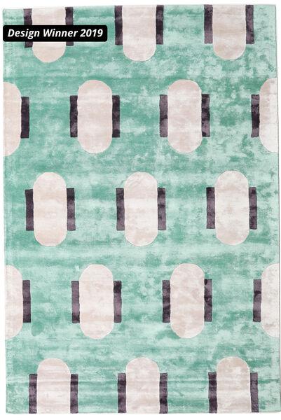 Catalpa - Grün Teppich  160X230 Moderner Lindgrün/Beige ( Indien)
