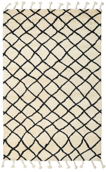 Atlas Berber Teppich  180X275 Echter Moderner Handgeknüpfter Beige/Schwartz (Wolle, Indien)