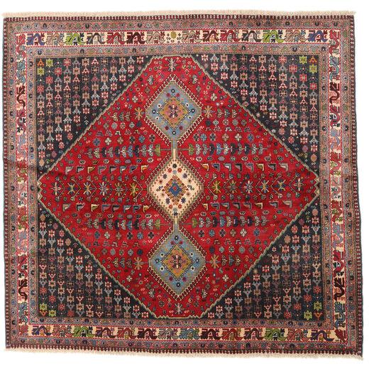 Yalameh Teppich  192X200 Echter Orientalischer Handgeknüpfter Quadratisch Dunkelrot/Dunkelbraun (Wolle, Persien/Iran)