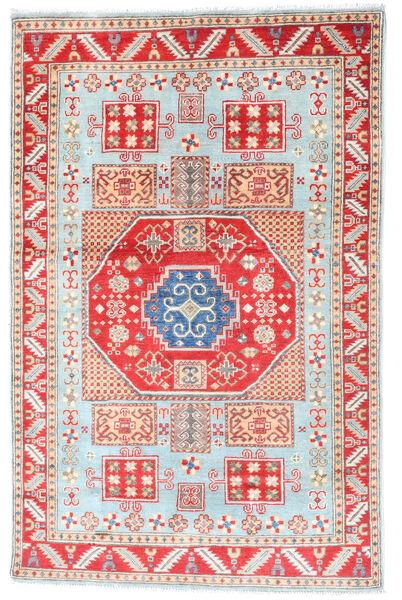 Kazak Teppich  117X181 Echter Orientalischer Handgeknüpfter Beige/Weiß/Creme (Wolle, Afghanistan)