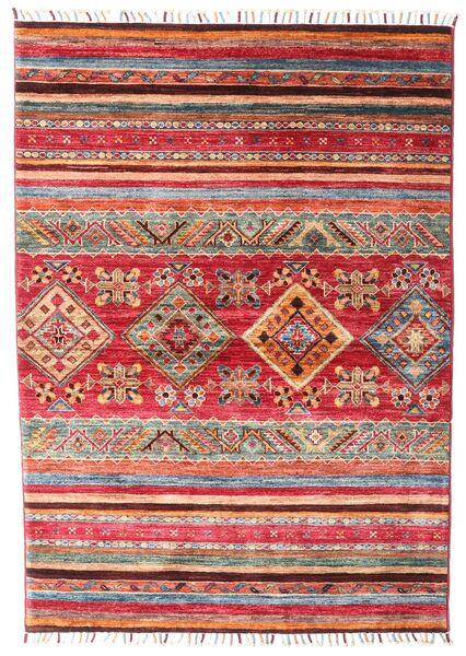 Shabargan Teppich  106X148 Echter Moderner Handgeknüpfter Rost/Rot/Dunkelrot (Wolle, Afghanistan)