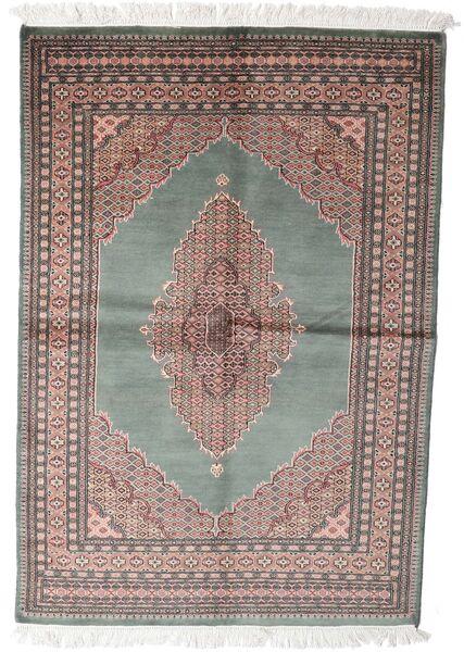 Pakistan Buchara 3Ply Teppich  143X208 Echter Orientalischer Handgeknüpfter Dunkelgrau/Weiß/Creme (Wolle, Pakistan)