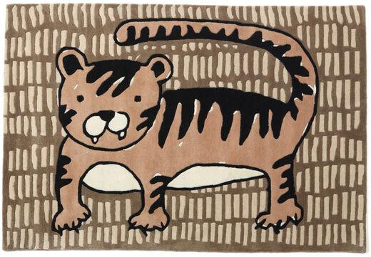 Cool Cat - Beige Teppich  120X180 Moderner Braun/Hellbraun (Wolle, Indien)