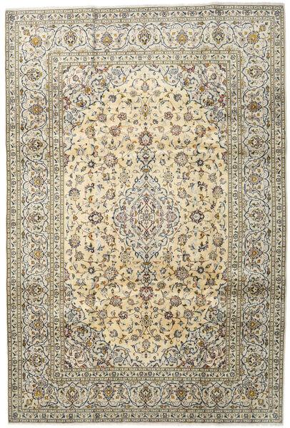 Keshan Teppich  201X299 Echter Orientalischer Handgeknüpfter Hellgrau/Dunkel Beige (Wolle, Persien/Iran)