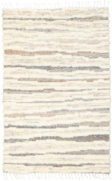 Barchi/Moroccan Berber - Indisch Teppich  160X230 Echter Moderner Handgeknüpfter Beige/Weiß/Creme (Wolle, Indien)