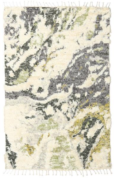 Barchi/Moroccan Berber - Indisch Teppich  160X230 Echter Moderner Handgeknüpfter Beige/Weiß/Creme/Hellgrau (Wolle, Indien)