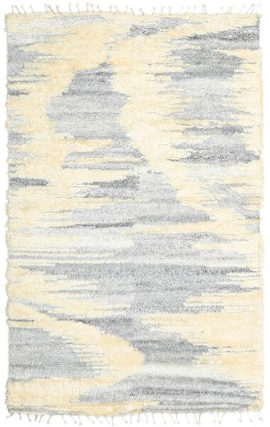 Barchi/Moroccan Berber - Indisch Teppich  160X230 Echter Moderner Handgeknüpfter Weiß/Creme/Hellgrau/Beige (Wolle, Indien)