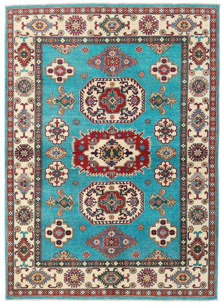 Kazak Teppich  176X241 Echter Orientalischer Handgeknüpfter Türkisblau/Beige (Wolle, Afghanistan)