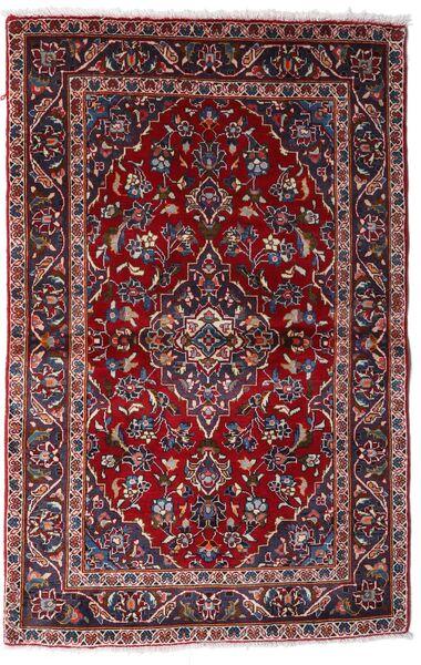 Keshan Teppich  97X150 Echter Orientalischer Handgeknüpfter Dunkelrot (Wolle, Persien/Iran)
