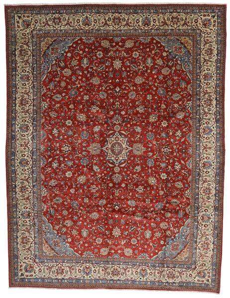 Sarough Teppich  325X425 Echter Orientalischer Handgeknüpfter Dunkelbraun/Dunkelrot Großer (Wolle, Persien/Iran)