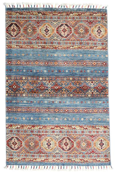 Shabargan Teppich  97X150 Echter Moderner Handgeknüpfter Dunkelgrau/Hellgrau (Wolle, Afghanistan)