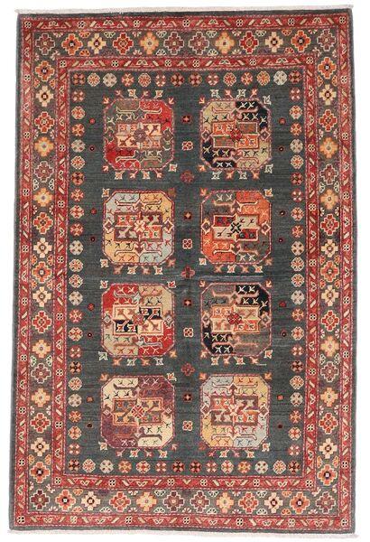 Kazak Teppich  118X179 Echter Orientalischer Handgeknüpfter Dunkelrot/Dunkelgrau (Wolle, Afghanistan)