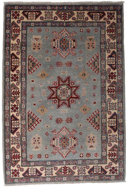 Kazak Teppich  120X175 Echter Orientalischer Handgeknüpfter Dunkelbraun/Schwartz (Wolle, Afghanistan)