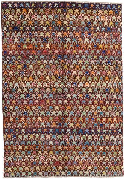 Moroccan Berber - Afghanistan Teppich  171X249 Echter Moderner Handgeknüpfter Dunkelbraun/Hellbraun (Wolle, Afghanistan)