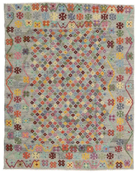Kelim Afghan Old Style Teppich  185X236 Echter Orientalischer Handgewebter Hellgrau/Braun (Wolle, Afghanistan)