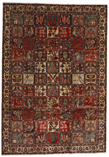 Bachtiar Teppich  225X317 Echter Orientalischer Handgeknüpfter Dunkelbraun/Dunkelrot (Wolle, Persien/Iran)