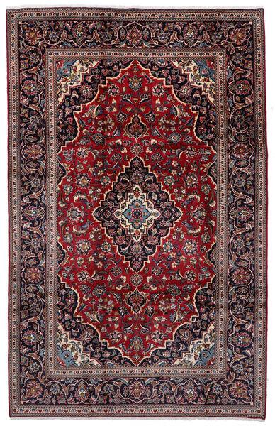 Keshan Teppich  198X308 Echter Orientalischer Handgeknüpfter Dunkelrot/Schwartz (Wolle, Persien/Iran)