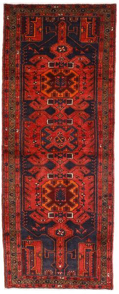 Hamadan Teppich  112X289 Echter Orientalischer Handgeknüpfter Läufer Dunkelrot/Dunkelbraun (Wolle, Persien/Iran)