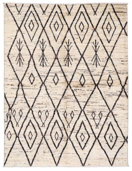 Moroccan Berber - Afghanistan Teppich  170X222 Echter Moderner Handgeknüpfter Beige/Hellgrau (Wolle, Afghanistan)