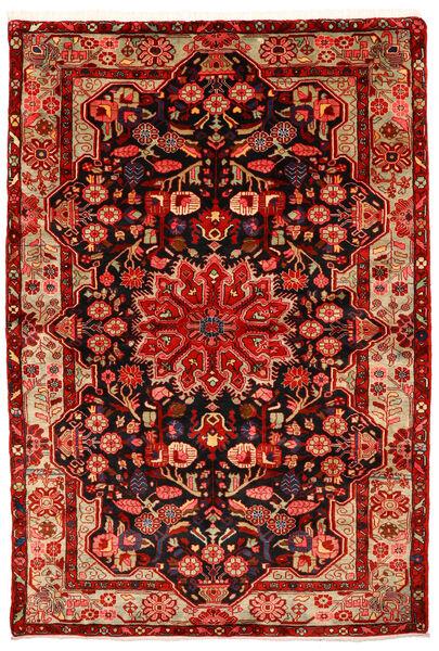 Nahavand Old Teppich  155X226 Echter Orientalischer Handgeknüpfter Rost/Rot/Dunkelrot (Wolle, Persien/Iran)