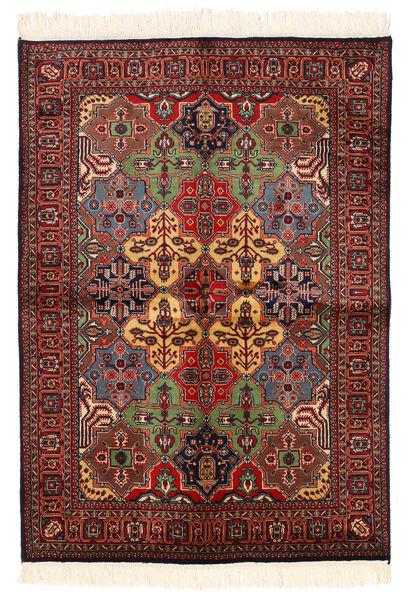 Kazak Teppich  135X192 Echter Orientalischer Handgeknüpfter Dunkelrot/Schwartz (Wolle, Pakistan)