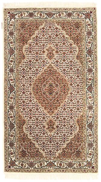 Täbriz Royal Teppich  92X162 Echter Orientalischer Handgeknüpfter Beige/Braun ( Indien)