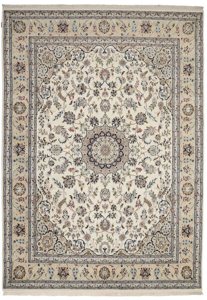 Nain Indisch Teppich  247X347 Echter Orientalischer Handgeknüpfter Hellgrau/Dunkelgrau ( Indien)