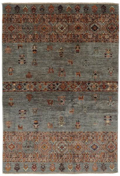 Shabargan Teppich  126X183 Echter Moderner Handgeknüpfter Schwartz/Dunkelbraun (Wolle, Afghanistan)