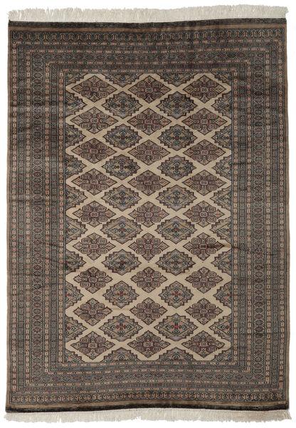 Pakistan Buchara 2Ply Teppich  184X257 Echter Orientalischer Handgeknüpfter Schwartz/Dunkelbraun (Wolle, Pakistan)