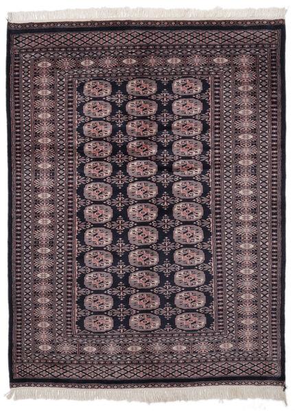 Pakistan Buchara 2Ply Teppich  139X186 Echter Orientalischer Handgeknüpfter Schwartz/Dunkelrot (Wolle, Pakistan)