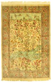 Ghom Seide Figurativ Teppich  131X198 Echter Orientalischer Handgeknüpfter (Seide, Persien/Iran)