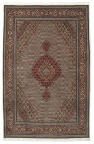 Täbriz 50 Raj Mit Seide Teppich  205X315 Echter Orientalischer Handgeknüpfter Dunkelbraun/Braun (Wolle/Seide, Persien/Iran)