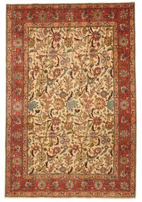 Täbriz Patina Figurativ Signatur: Hadadian Teppich  203X304 Echter Orientalischer Handgeknüpfter (Wolle, Persien/Iran)
