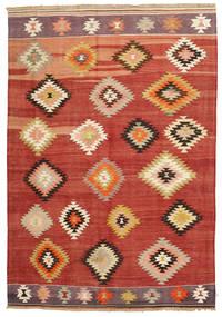Kelim Karakecili Teppich  165X240 Echter Orientalischer Handgewebter (Wolle, Türkei)