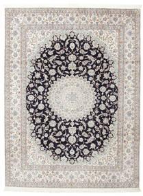 Nain 6La Signatur: Habibian Teppich  205X271 Echter Orientalischer Handgeknüpfter (Wolle/Seide, Persien/Iran)