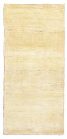 Gabbeh Persisch Teppich  81X171 Echter Moderner Handgeknüpfter Läufer Gelb/Beige (Wolle, Persien/Iran)
